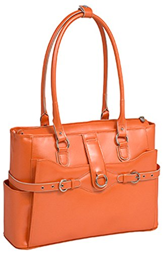 McKlein Women's Willow Springs Briefcase,Orange,16.5