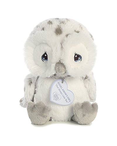 Precious Moments Nigel Snow Owl 8 inch - Baby Stuffed Animal by Aurora World New Precious Cargo