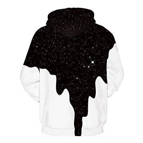 iBaste Stampa 3D pullover Felpa con cappuccio felpa maglione con cappuccio moda stampa digitale Latte