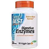 Doctor's Best Digestive Enzymes Non-GMO Vegetarian Gluten Free, 90 Veggie Caps