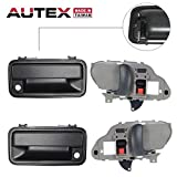 chevy 1998 1500 rear door - AUTEX 4pcs Interior Exterior Door Handles Front Rear Left Right Driver Passenger Side Compatible with 1995 1996 1997 1998 1999 2000 Chevy GMC C/K 1500/2500/3500 Chevy Tahoe GMC Yukon 77096, 15032305