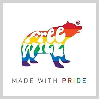 Retro Heart Strip Unisex Uomo Donna LGBT 2019 FreeWillShirts Maglietta Gay Pride