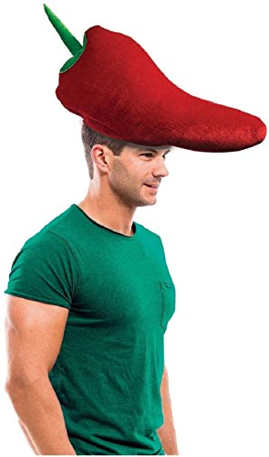 Forum Novelties Chili Pepper Plush Costume Hat, Multicolor