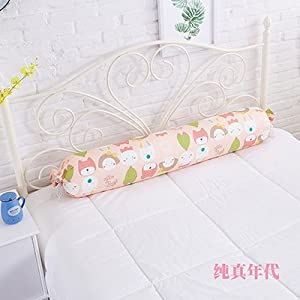HOMEE Cotton Cylindrical Pillow Long Boyfriend Pillow Beloved Children Pillow Pillow Pure Cotton Candy Pregnant Women Restraints Can Remove Money ,2080, Toner,S,2080cm