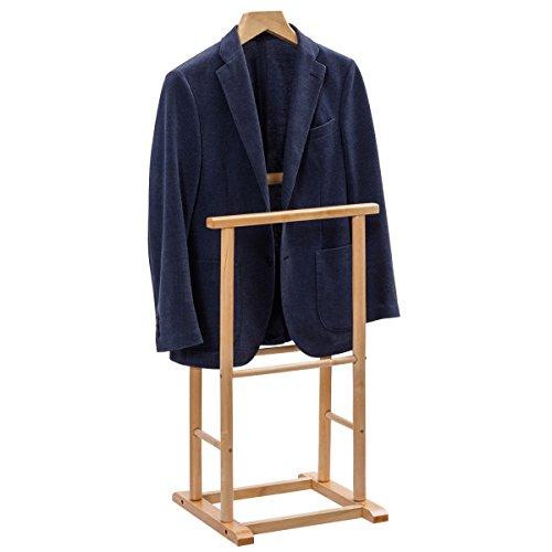 cutive Suit Clothes Hanger Coat Organizer Men's Butler, Wooden ()