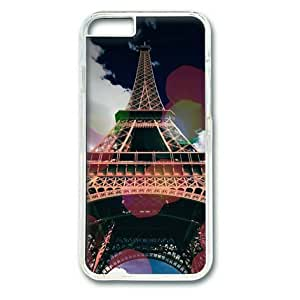 fashion Eiffle Tower Colorful Bubbles Sakuraelieechyan Transparent Sides Hard Shell Case for Iphone5s