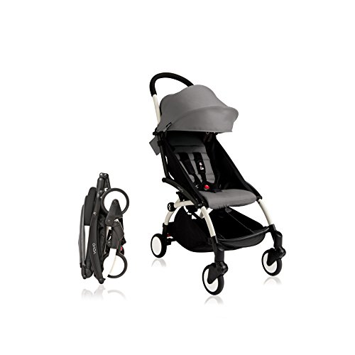 BabyZen 2016 Yoyo+ Stroller Bundle - White Frame + Color Pack (Grey3) by Baby Zen