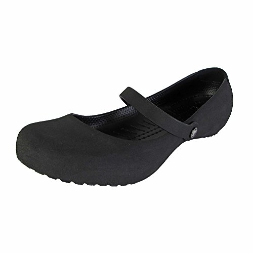 Pictures of Crocs Womens Alice Suede Mary Jane Shoes black 1