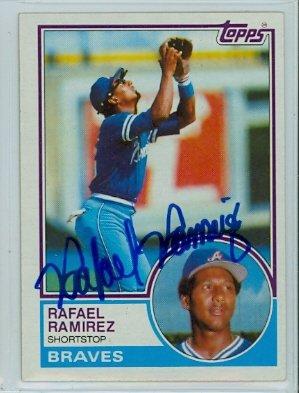 Rafael Ramirez AUTOGRAPH 1983 Topps #439 Atlanta Braves
