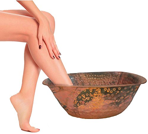 Cheap Egypt gift shops Fire Rustic Burnt Copper Pedicure Body Foot Therapy Spa Bath Massage Wash Hand Hammered Turkish Hammam Bowl Soaker