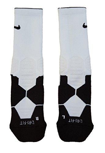 66d83928a Nike Hyper Elite Cushioned Basketball Socks (Large, White/Black)