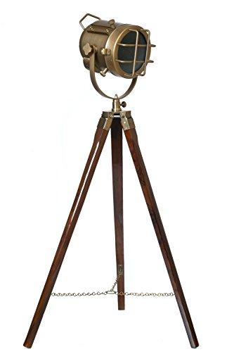 LightenUP Brass Tripod Lamp (Antique Colour)