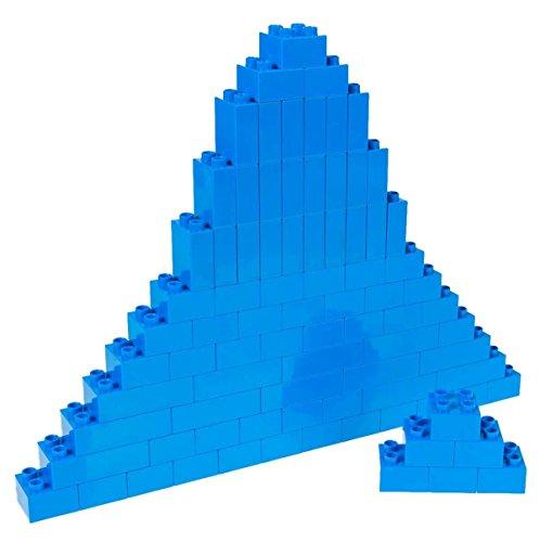 Strictly Briks Classic Big Briks Building Brick Set 100% Compatible with All Major Brands | 3 Large Block Sizes for Ages 3+ | Premium Blue Building Bricks | 84 Pieces