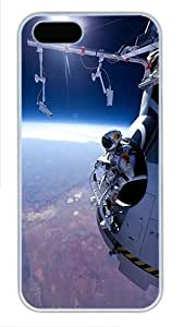 iPhone 5S Cases & Covers -Felix Baumgartner Space Jump Custom PC Hard Case Cover for iPhone 5/5S ¨C White