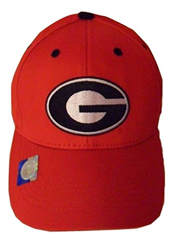 - Captivating Headgear NCAA Georgia Bulldogs Structured Adult Red Logo Cap