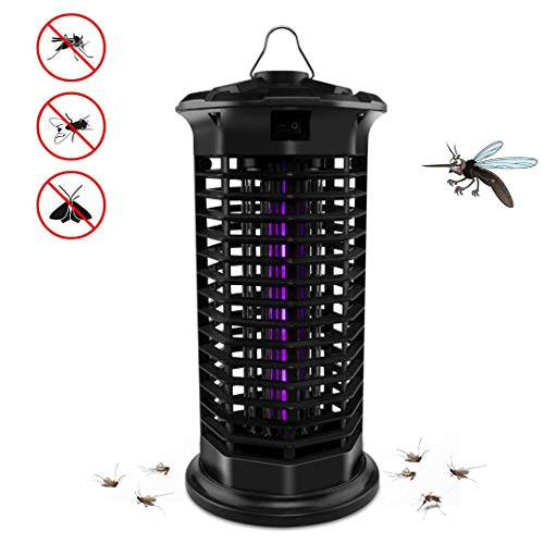 Big Devil Electric Bug Zapper, Powerful Mosquito Trap, Insects Killer with Hook, Light-Emitting Mosquito Lamp for Indoor Home Bedroom,Kitchen, Office(2019 Upgraded Black)