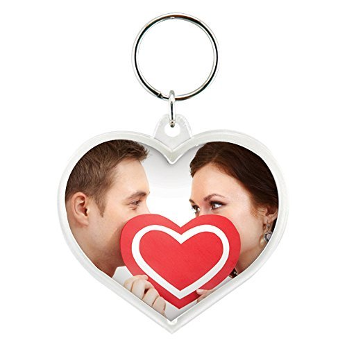 Heart Acrylic Snap-In Photo Keychain - Pack of 72 by Snapins