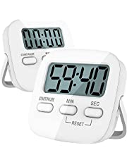 Kitchen Timer-2 Pack Digital Kitchen Timers Magnetic Countdown Timer with Loud Alarm, Big Digits, Back Stand for Cooking, Classroom, Bathroom, Kids