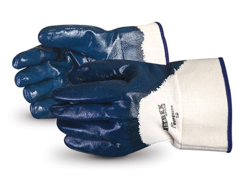 Superior Glove N93/4BR Nitrex™ Heavy-Duty 3/4 Nitrile-Coated Gauntlet Rough Finish - Coated Gauntlet
