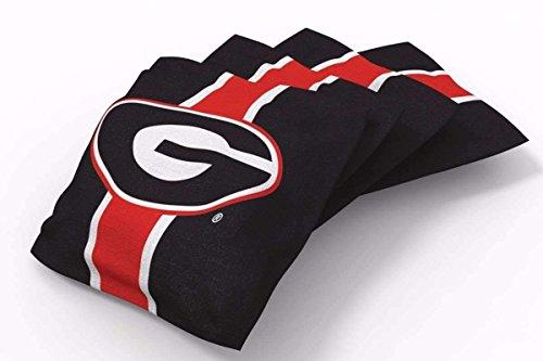 PROLINE 6x6 NCAA College Georgia Bulldogs Cornhole Bean Bags - Stripe Design (A)