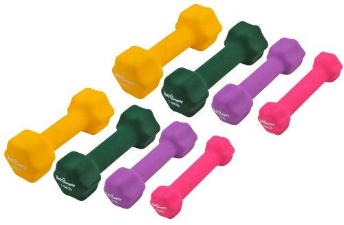 10Kg (2x0.5, 2x1, 2x1.5, 2x2) Neopren Gymnastik Hanteln Gewichte Hantel-Set