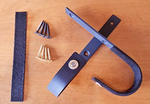 VERDICT BRACKETS (6.5 Creedmoor Brass) Heavy Duty Wall Mount Gun Racks Gun Hooks Shotgun Hooks Rifle Hangers Storage (1 Pair) Felt Lined, Black, Mounting Screws & Mounting Instructions (Toy Pink Pump Action Shotgun)
