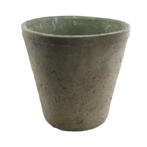 HomArt Rustic Terra Cotta Rose Pot, Grande Moss Grey, 1-Count