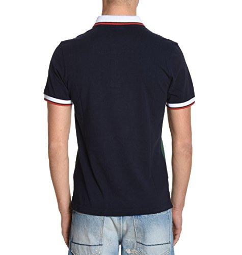 Aeronautica Militare Herren PO1127J190256 Blau Baumwolle T-Shirt