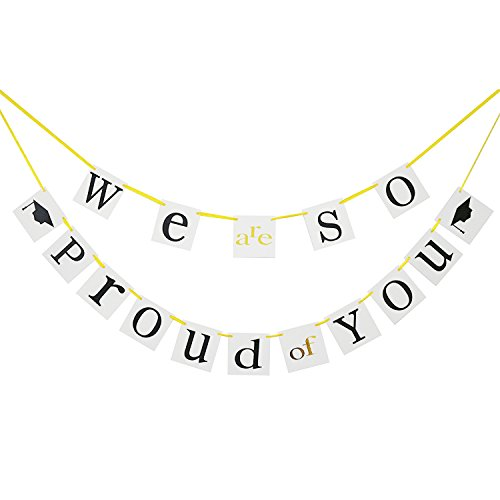 Graduation Banner - We are so Proud of You - Graduation Party Decorations - Graduation Gift