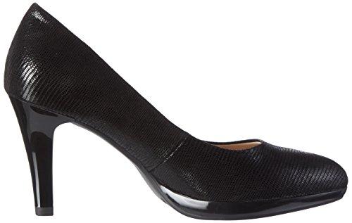 Caprice Black 22414 Reptile Black Toe Closed Women's Pumps RwPZcRF4q