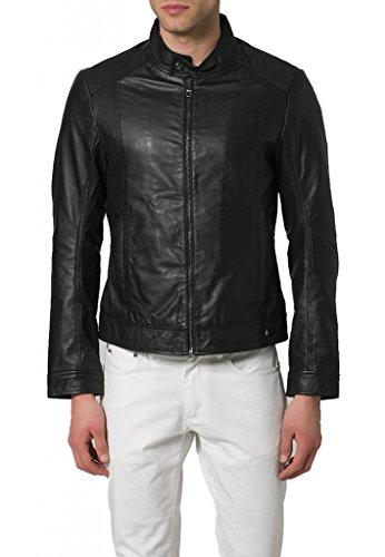 Hombre Para Leather Negro Junction Chaqueta 7qzz0v