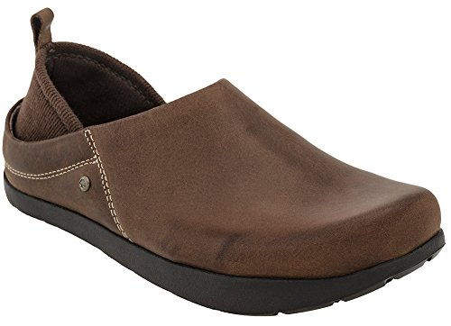 Kalso Earth Shoes Women's Harvest Slip On Clog,Bridle Brown Leather,US 8 M