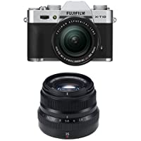 Fujifilm X-T10 Silver w/XF18-55mm & XF35mm F2 Black Lens (Old Model)