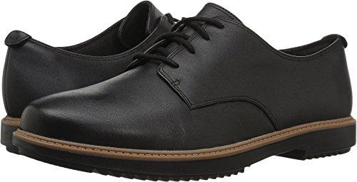 Clarks Women's Raisie Bloom Oxford, Black Leather, 8.5 M US (Oxford Lace Shoes)