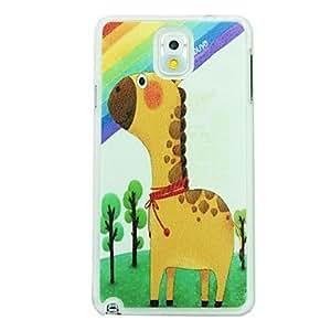 MOFY-Patr—n de las venas de piel de la jirafa dura del caso para Samsung Galaxy Note N9000 3