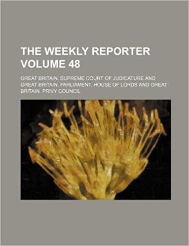 Book The Weekly reporter Volume 48