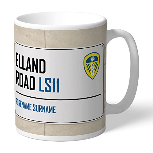 Leeds United Official Personalized FC Street Sign Mug - Free Personalisation