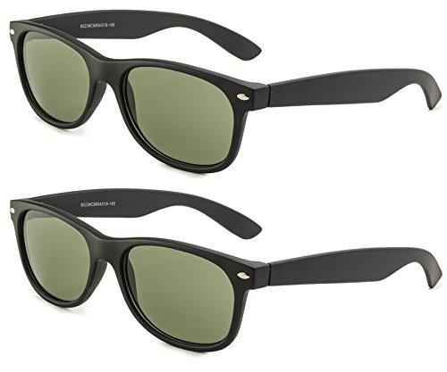 Matte Black Frame/Green Lens - Set of - Bans Fake Ray