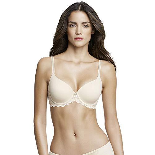 (Dominique Seamless T-Shirt Bra, 38D, Nude)