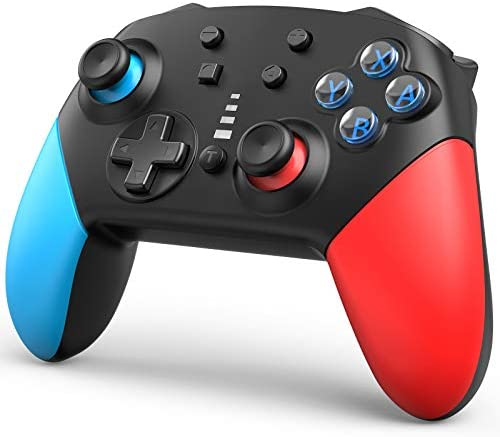 Wireless Switch Pro Controller for Nintendo Switch,1200mAh Long-Time Play Remote Gamepad,Support Motion Control Dual Vibration Turbo,Continuous Firing and Vibration Function Three Stages Adjusted