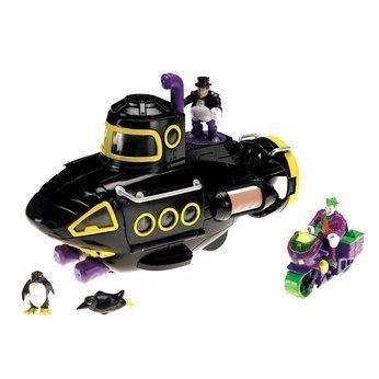 Imaginext Batman Villain Submarine Gift Set, Includes Joker and Penguin figures.