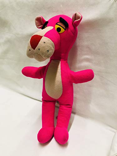 Vintage Murisch Geoffrey Mighty Star Plush Pink Panther 1960s 13 Inches Tall