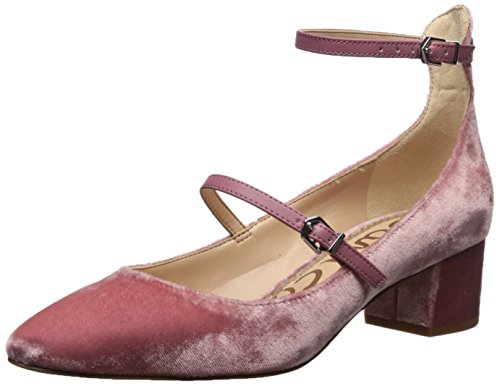 Sam Edelman Women's Lulie Pump, Faded Rose Velvet, 5 Medium US by Sam Edelman