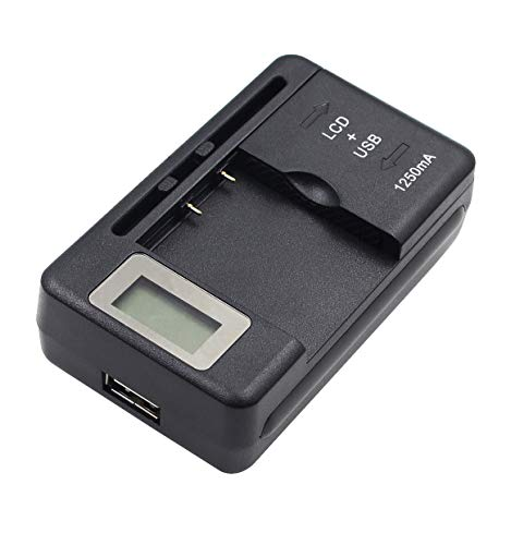 Camera Battery Charger with LCD for Samsung BP2000 Galaxy 2 Camera (EK-GC200) (Bp2000 Samsung Camera Battery)