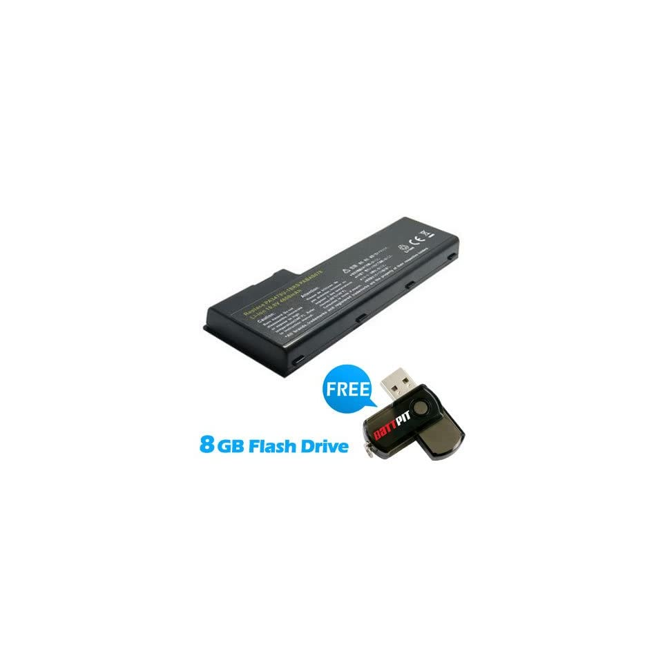 Battpit™ Laptop / Notebook Battery Replacement for Toshiba Satellite Pro P100 153 (6600 mAh) with FREE 8GB Battpit™ USB Flash Drive