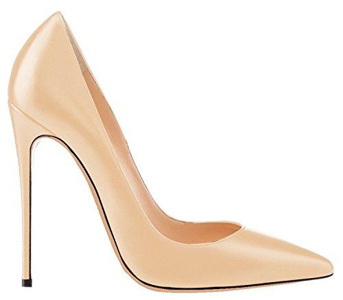 Pu Escarpins Talon Femme Stilettos Femmes Talons Chaussures Beige Taille uBeauty Aiguille Grande Chaussures 7wdaFxdqn