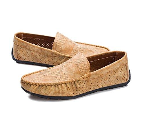 WZG huecas zapatos transpirables zapatos de los guisantes de los hombres conjuntos pie Tipo zapatos de los hombres zapatos casuales estaciones naturals