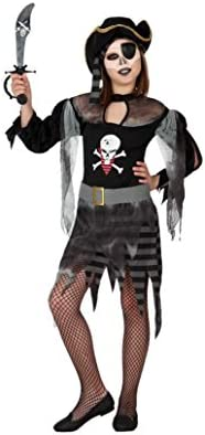 Atosa - Disfraz de pirata fantasma para niña, talla 9 años ...