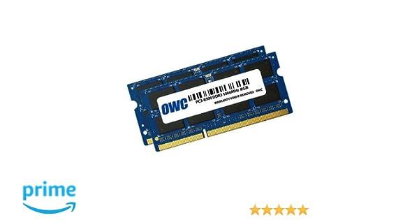 OWC 2 x 8 GB, PC8500, DDR3, 1066 MHz, DDR3, Ordenador portátil, 204-pin SO-DIMM, 0 - 85 °C, 2 x 8 GB, Azul: Amazon.es: Informática