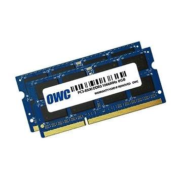 OWC 2 x 8 GB, PC8500, DDR3, 1066 MHz, DDR3, Ordenador